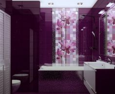 Modern Purple Bathroom Designs And Slate New Bathrooms