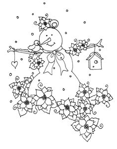 Free Dearie Dolls Digi Stamps: October 2014 Coloring Pages Winter, Christmas Coloring Pages, Colouring Pages, Coloring Books, Cross Stitch Kits, Cross Stitch Embroidery, Embroidery Patterns, Hand Embroidery, Christmas Colors