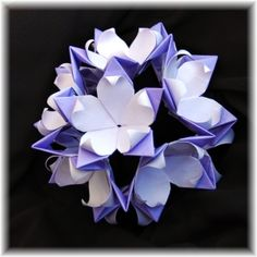 modular origami passion flower ball