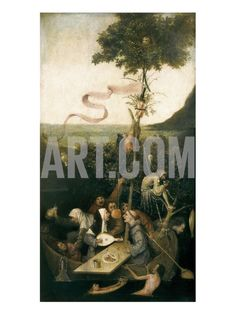 The Ship of Fools Art Print by Hieronymus Bosch at Art.com