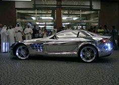 this car is made of white gold! no joke...owned by a billionare