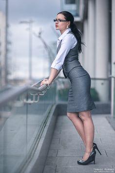 500px / Photo Office girl by Tomasz Kornas