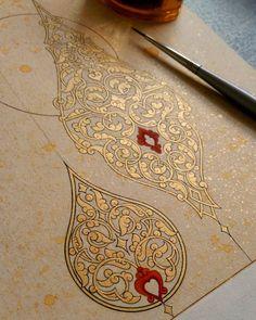 ✨💫❤💫✨ #نقاشی_ایرانی Arabic Calligraphy Art, Arabic Art, Calligraphy Alphabet, Islamic Art Pattern, Pattern Art, Ant Drawing, Arte Judaica, Diy Art, Illumination Art