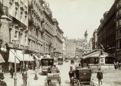 Am Graben, um 1900 Europe Eu, Good Old Times, Old Pictures, Vintage Pictures, Old City, Vienna, Hungary, Old World, Croatia