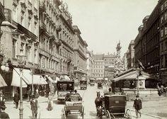 Pferdetramway, Am Graben, um 1900