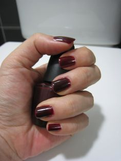 L.A. Colors ~ NP115 Plum Wine. by/source: 'Beauty Blog' #rednails #rednailpolish #red #naillacquer #nails