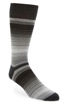John W. Nordstrom Gradual Stripe Cotton & Cashmere Blend Socks