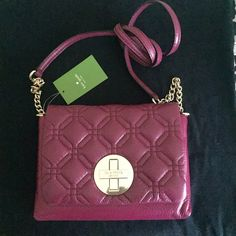 """kate spade Naomi Astor plum crossbody bag kate spade Naomi Astor court plum cross body bag. Great for the fall season. Great to give a pop of color to your outfit. Dimensions approximately 9""""x6"""". No dust bag. Awesome this season! kate spade Bags Crossbody Bags"""