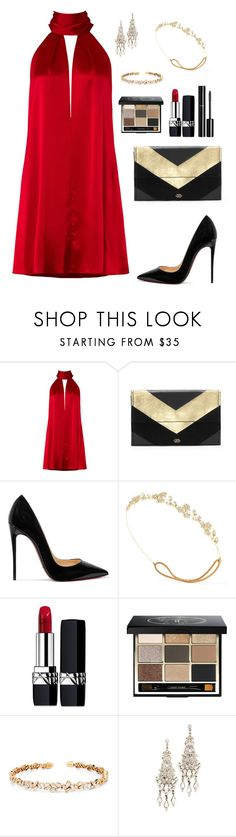 """Untitled #305"" by bajka2468 on Polyvore featuring Galvan, Vince Camuto, Christian Louboutin, Jennifer Behr, Christian Dior, Chanel, Bobbi Brown Cosmetics, Suzanne Kalan and Ben-Amun"