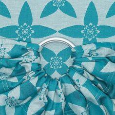 Fidella Baby Wrap - Blossom - ocean blue - ring sling