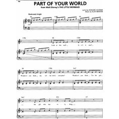 Disney The Little Mermaid Part of Your World (Piano Sheet Music,... ❤ liked on Polyvore