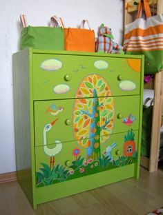 Beautiful painted dresser by Orange Crafts