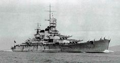 Italian Battleship Roma, 1940. The last ship built of the Littorio class