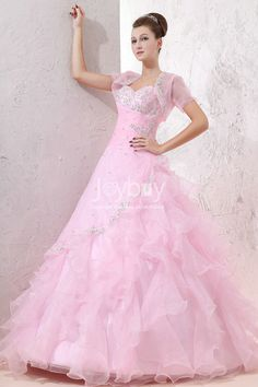 Ruching Applique Sweetheart Light Pink Quinceanera Dresses