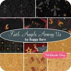 #FQSgiftguide #family and friends Faith Angels Among Us Fat Quarter Bundle Buggy Barn for Henry Glass Fabrics