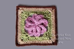 (4) Name: 'Crocheting : 8 Petal Flower Square