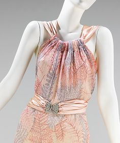 Ensemble, Evening  Madeleine Vionnet  (French, Chilleurs-aux-Bois 1876–1975 Paris)  Date: ca. 1936 Culture: French Medium: silk