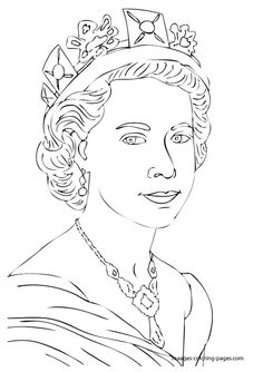 Queen Elizabeth Diamond Jubilee Coloring Pages   Tezzers ...