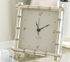 Silver-Plated Bamboo Clock #potterybarn $49: This would have been a nice Christmas gift.