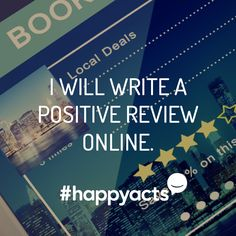 Happy Act Idea Have you recently had a great experience at a restaurant or store? Take a few minutes to leave a positive review online and spread positivity. #HappyActs Happy National Day, When You Are Happy, Happiness Project, Live Happy, I Care, No Time For Me, Arrow, Acting, Positivity