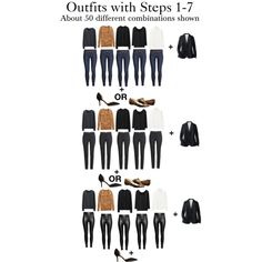 Outfits using Start From Scratch Wardrobe Steps 1-7