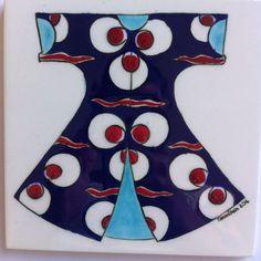 Tile kaftan çintemani Ümmühan Çelikkaya Batik Pattern, Historical Clothing, Tile Design, Painting Inspiration, Red And White, Pottery, Ceramics, Art Prints, Canvas