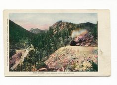 (#807) Colorado Springs & Cripple Creek Short Line Railroad Train 1910s Postcard