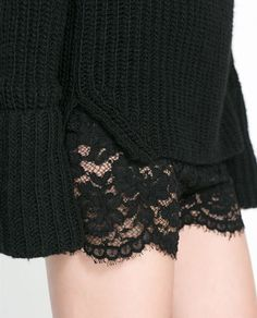Image 5 of LACE SHORTS from Zara