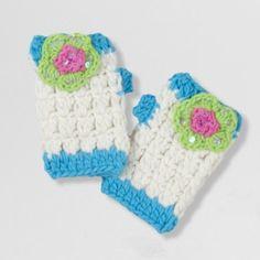 Dainty Flower Fingerless Gloves