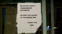 Poor circumcised Bob; doesn't the foreskin belongs to the feminine gender? So, the intact, at least, should be allowed into women's rooms, shouldn't they, Bob? woman, was just recently made aware of it.