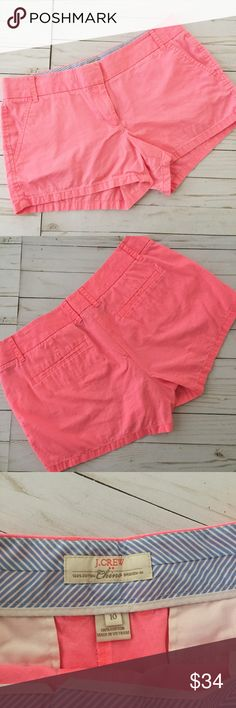 Hot Pink JCREW Chino Shorts 3 inch inseam. 9 inch rise. 100% cotton. Open to offers. No trades. J. Crew Shorts