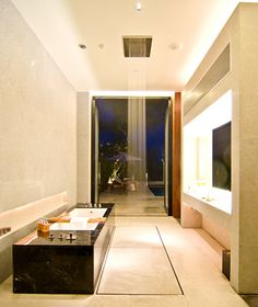 Alila Cha-Am, Thailand    The Shower: This is the next best thing to actually singing in the rain: fitted with built-in Bose sound systems, the showers at this resort are by German manufacturer Dornbracht, the Porsche of bathroom fittings. Set into the ceiling, the 24-by-19-inch showerhead drizzles and sprays like natural rainfall. Choose from a deluge spray that forms a curtain of water around you or a central spray that pours down and soaks you entirely.