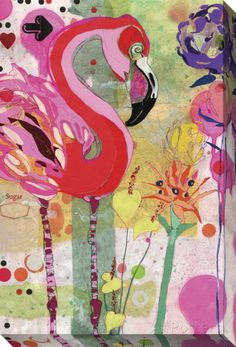 Flamingo Stretched Canvas Print at AllPosters.com