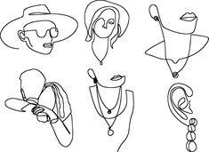 Free Line Art & Vintage Images - Pixabay Free Pictures, Free Images, Art En Ligne, Illustrations, Vintage Images, Female Art, New Product, Line Art, Wall Art Prints