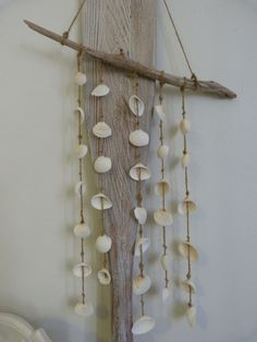 seashell driftwood mobile by beachcomberhome on Etsy, $25.00