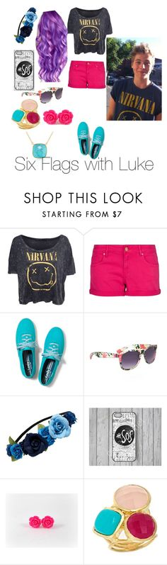 """""""Six Flags with Luke"""" by musiclovinme ❤ liked on Polyvore featuring MANGO, Keds, Phase Eight, Sole Society, Forever New, Betty Carré and Argento Vivo"""