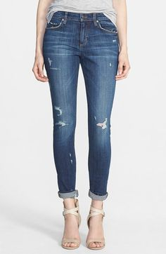 distressed jeans are great for summer