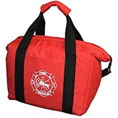 First Response Fire Department 12 Pack Insulated Lunch Cooler Bag Fire Fighter Gift