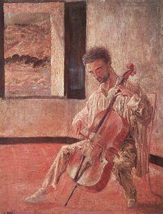 TICMUSart: Portrait of the Cellist Ricard Pichot - Salvador D... (I. M.)