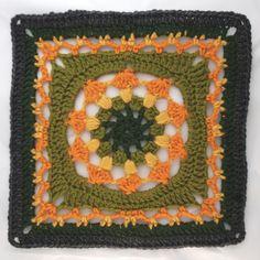 Ravelry: Kalevala CAL - Tapio pattern by Milla Elo Crochet Blocks, Granny Square Crochet Pattern, Crochet Squares, Crochet Granny, Crochet Patterns, Granny Squares, Love Crochet, Knit Crochet, Crochet Butterfly