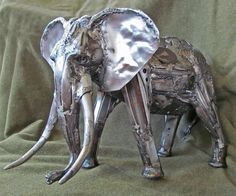 """""""The Old Soul"""" - Elephant sculpture made from recycled metal parts.  #elephantsculpture"""