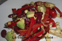La cucina di Ombraluce: Insalata di peperoni, fagioli rossi e avocado