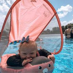 Mambo Climb Float - SwimTrainer months - 2 Years) With Canopy Baby Swim Float, Baby Life Hacks, Baby Swimming, Unique Baby Gifts, Little Babies, Baby Strollers, Children, Beach, 2 Months