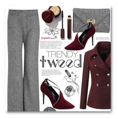 """Trendy Tweed"" by beebeely-look ❤ liked on Polyvore featuring Diane Von Furstenberg, Isa Arfen, L. Erickson, women's clothing, women, female, woman, misses, juniors and grey"