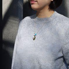 #porcelain #leaf #goldplated #metal #necklace by #helenarohner