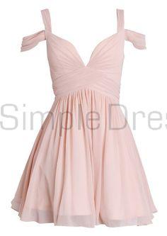 Elegant A-line Sweetheart Ruched Short Chiffon Homecoming Dress/Bridesmaid Dress