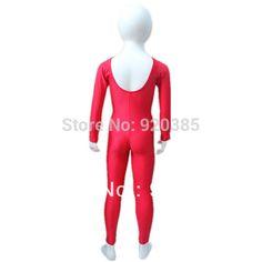 販売のためUnitardsダンシング女性と女の子/女性のための小売すぐに船レッドシャイニーファブリックロングスリーブダンスユニタード