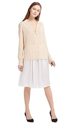 8d1f2d75dacf91 LILYSILK Women s Outfits of Silk Shirt and Skirt for Ladies 100 Pure Silk   Amazon.co.uk  Clothing