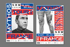 """happy-little-accidents.de — Sporting Grotesque (with modified """"R's"""") in the Myth Tour de France branding."""
