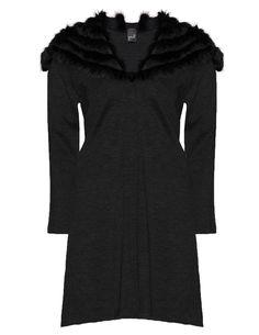 YOEK - Knitted coat with fur collar - navabi